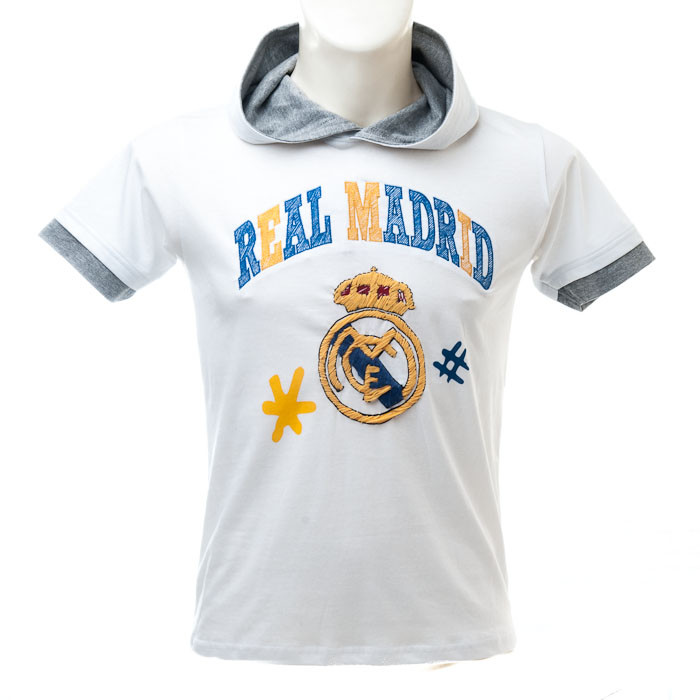 Real Madrid Kinder Kapuzen T-Shirt