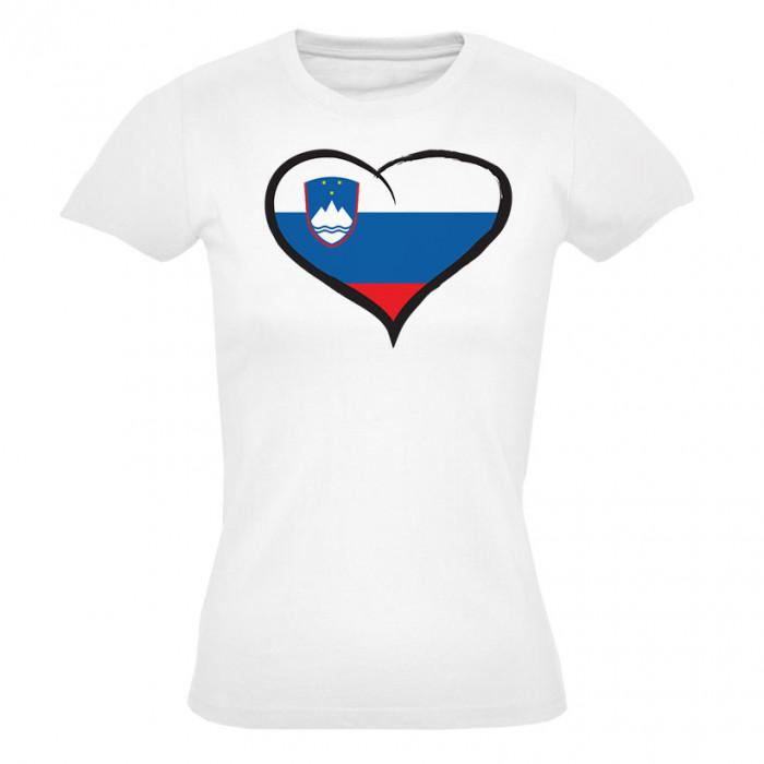 Slowenien Damen T-Shirt Herz