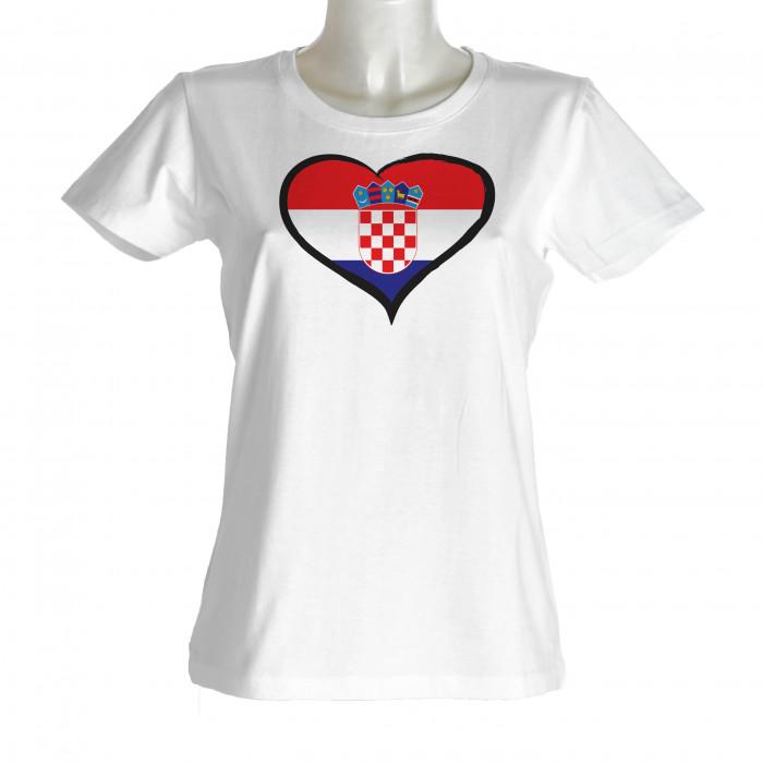 Hrvatska ženska majica srce