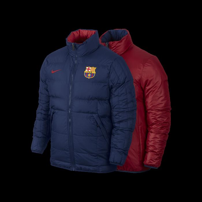 FC Barcelona Nike Winterjacke, beidseitig tragbar 689939-421