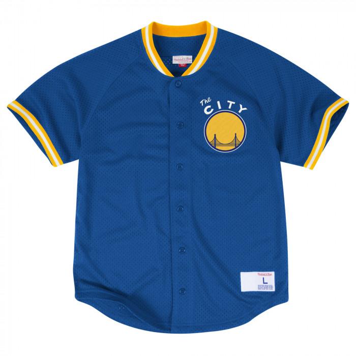 Mitchell & Ness Seasoned Pro Mesh Button Front majica Golden State Warriors