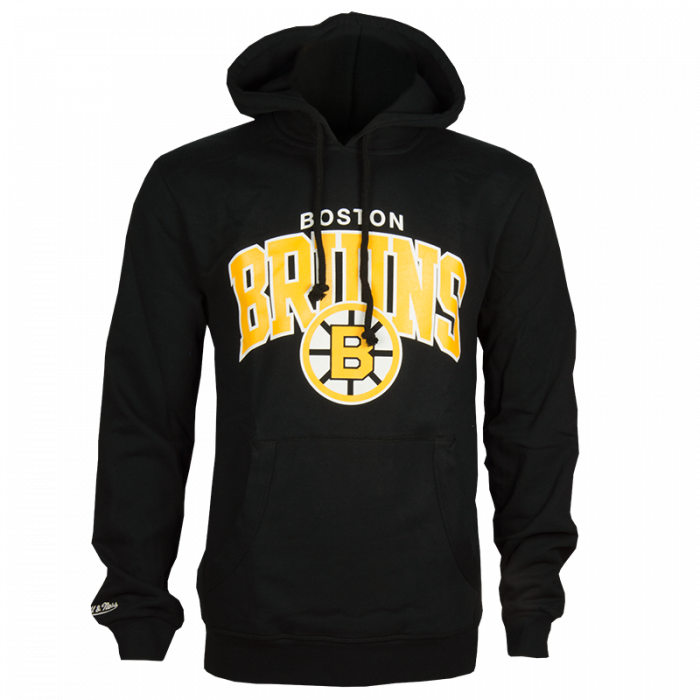 Boston Bruins Mitchell & Ness Team Arch Kapuzenjacke Hoody