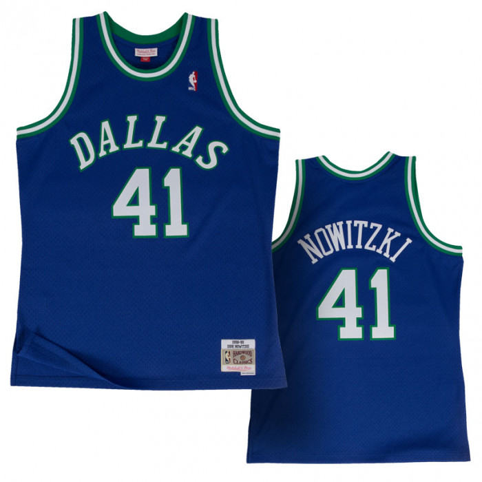 Dirk Nowitzki 41 Dallas Mavericks 1998-99 Mitchell & Ness Swingman dres