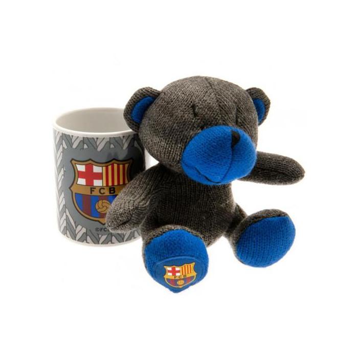 FC Barcelona Set Tasse und Teddy