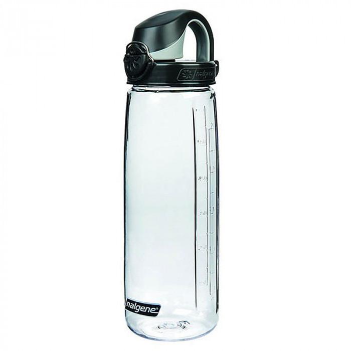 Nalgene Trinkflasche OTF 750 ml (5565-9024 durchsichtig, schwarzer Deckel)