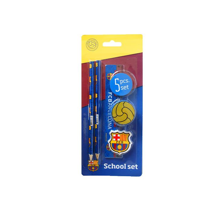 FC Barcelona 5-delni set šolskih potrebščin