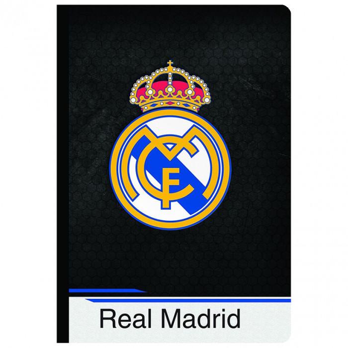 Real Madrid Heft, Hardcover, Wappen A4/OC/80BLATT/80G