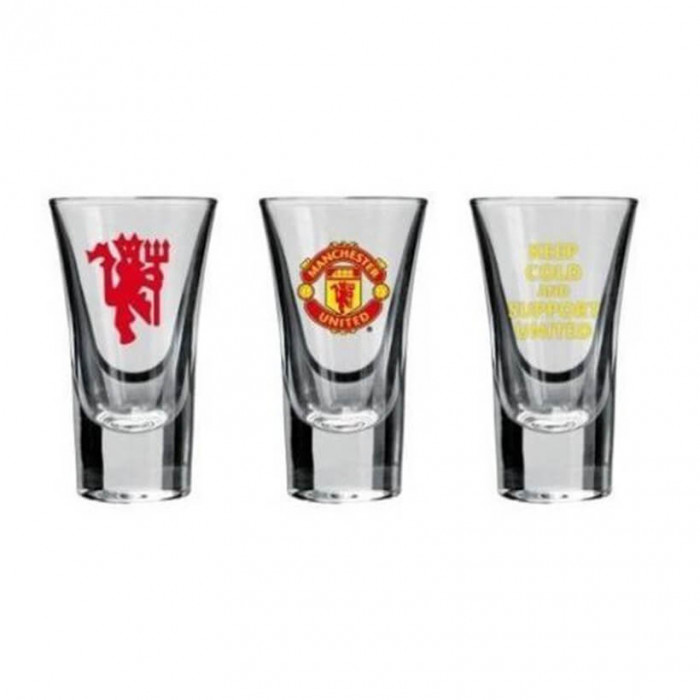 Manchester United 3x Schnapsglas