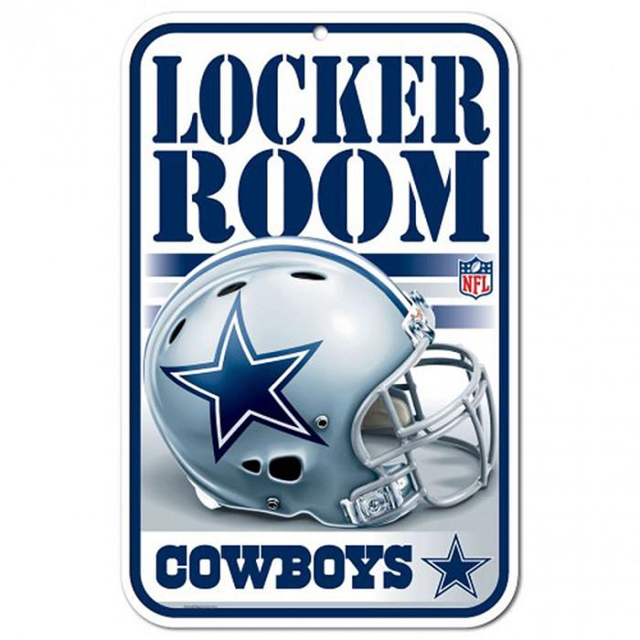 Dallas Cowboys Schild Locker Room