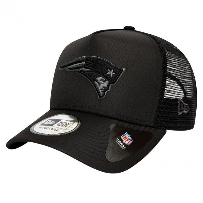 New England Patriots New Era Trucker A-Frame Tonal Black kapa