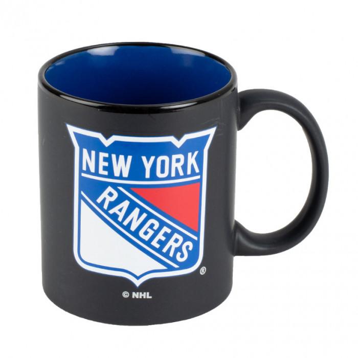 New York Rangers Black Matte Two Tone Tasse