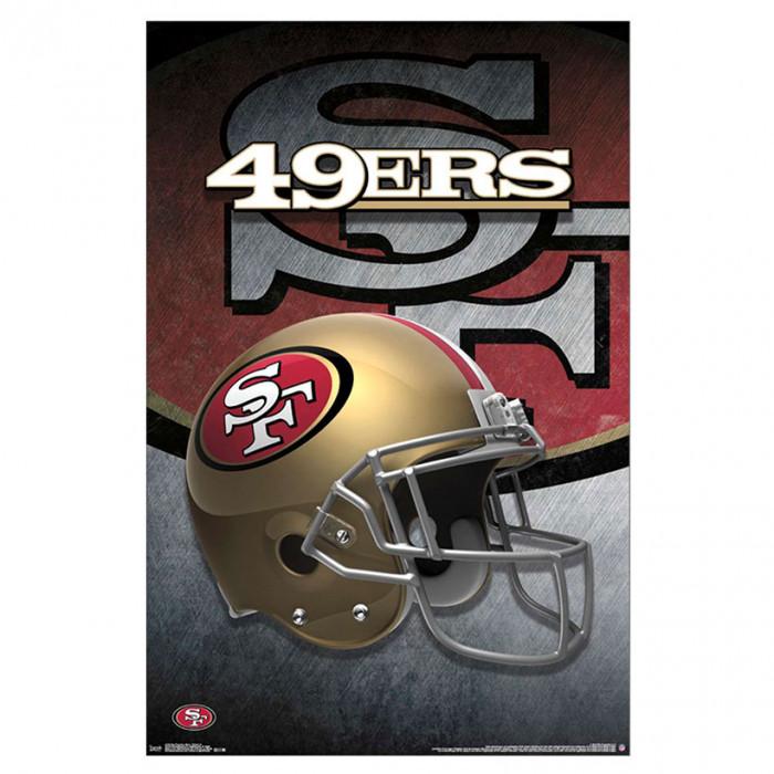 San Francisco 49ers Team Helmet poster