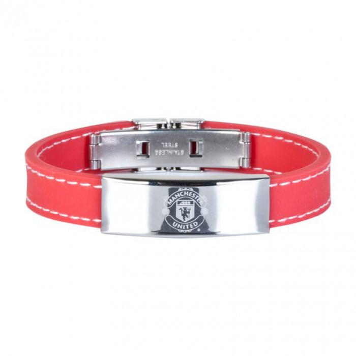 Manchester United Stitched Silikon Armband