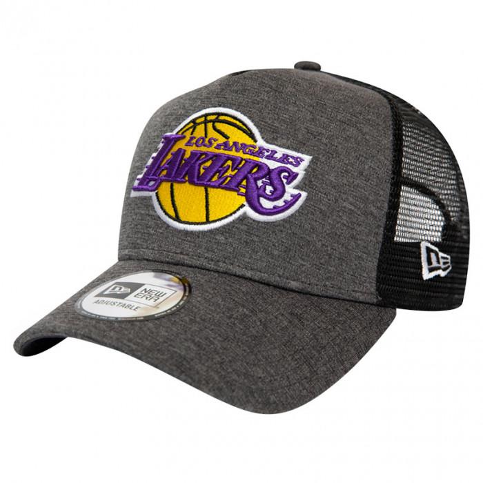 Los Angeles Lakers New Era Shadow Tech Grey A-Frame Trucker Mütze