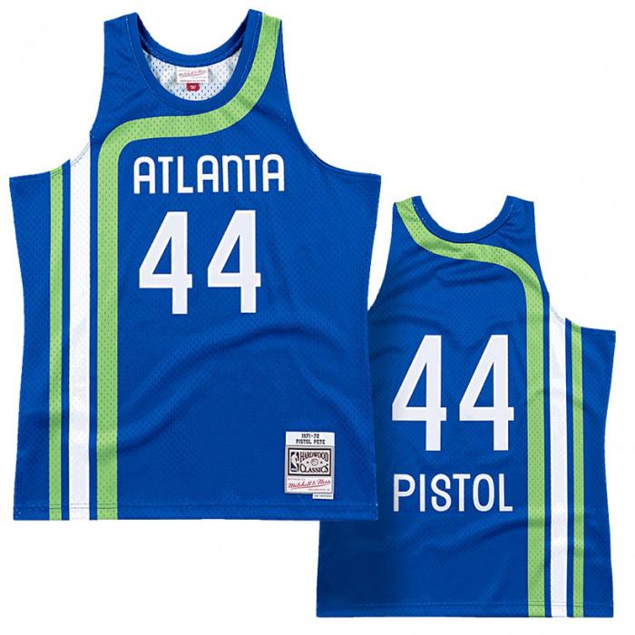 Pete Maravich 44 Atlanta Hawks 1971-72 Mitchell & Ness  Road Swingman Trikot