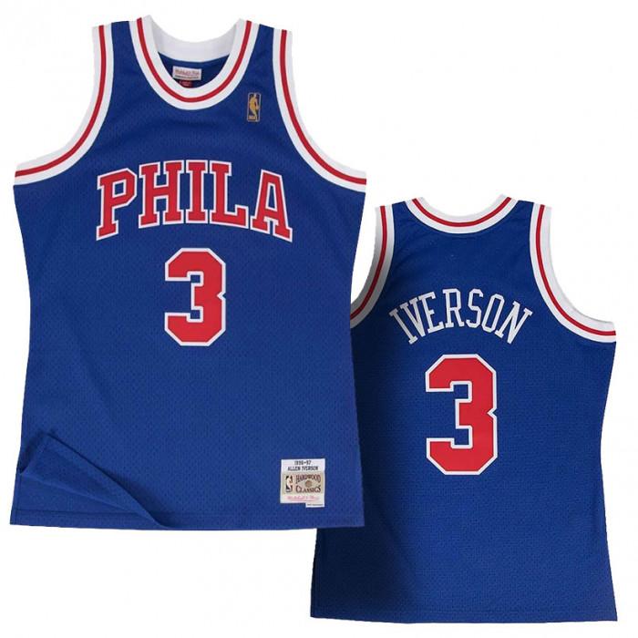 Allen Iverson 3 Philadelphia 76ers 1996-97 Mitchell & Ness Alternate Swingman Trikot