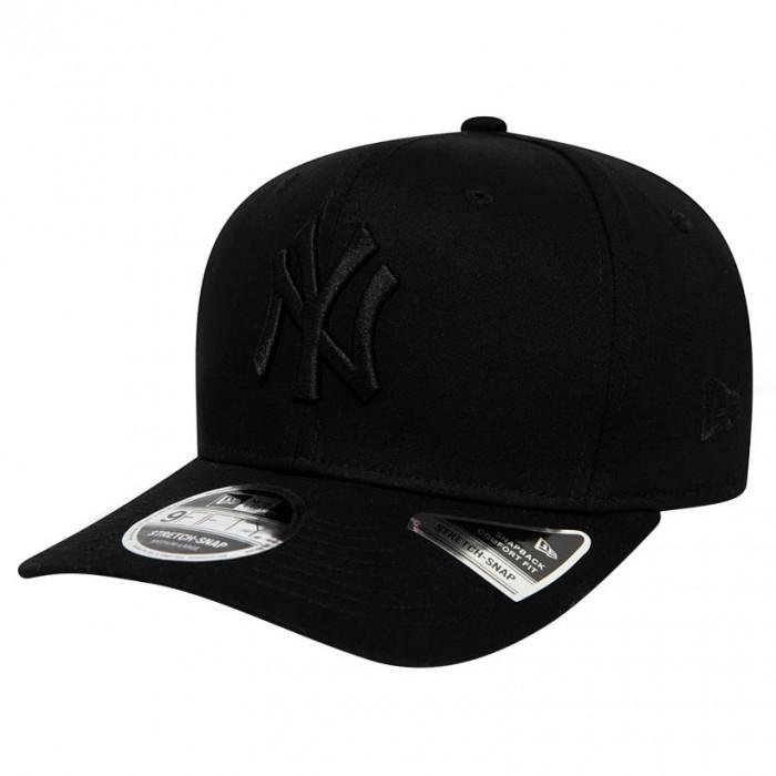 New York Yankees New Era 9FIFTY Tonal Black Stretch Snap Mütze