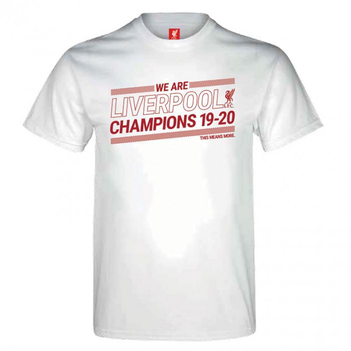 Liverpool Champions 19-20 White T-Shirt