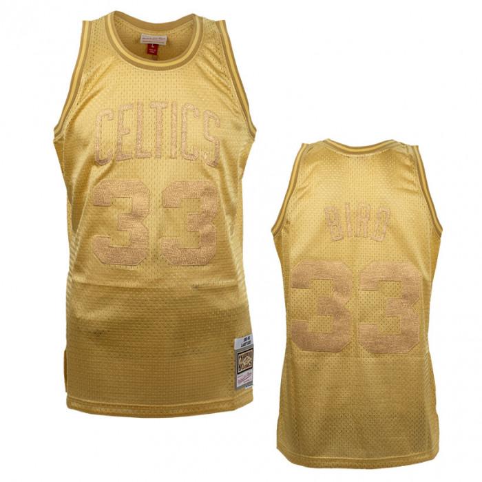 Larry Bird 33 Boston Celtic Mitchell & Ness Midas Swingman Metallic Gold Trikot