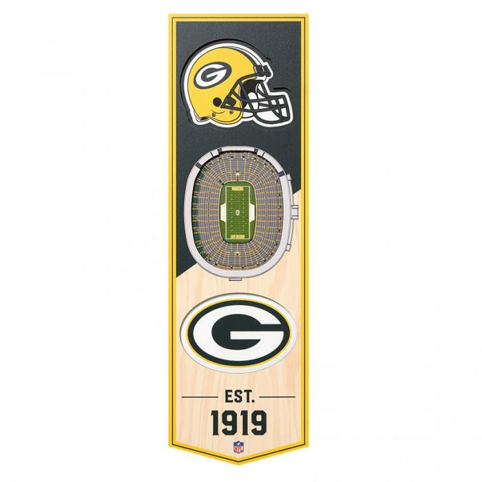 Green Bay Packers 3D Stadium Banner slika