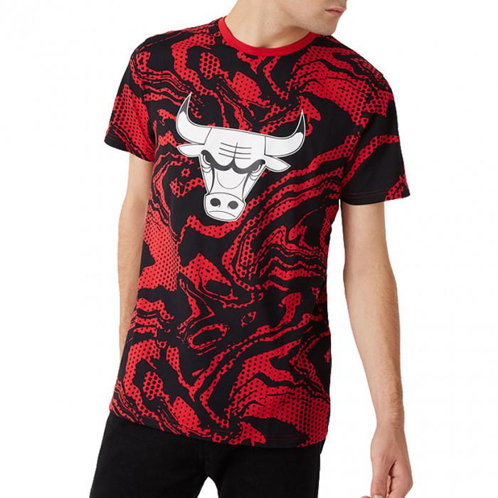 Chicago Bulls New Era Oil Slick Print majica