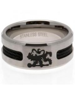Chelsea Black Inlay prsten od nehrđajućeg čelika