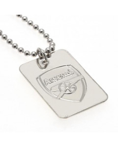 Arsenal ogrlica s privjeskom posrebrena