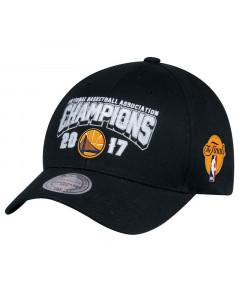 Golden State Warriors Mitchell & Ness 2017 NBA Champions Flexfit 110 kapa