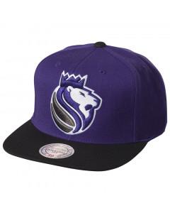 Sacramento Kings Mitchell & Ness XL Logo 2 Tone kapa