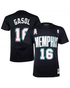 Pau Gasol 16 Memphis Grizzlies Mitchell & Ness T-Shirt