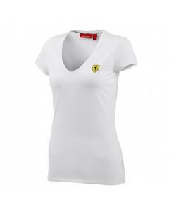 Ferrari Damen V-neck T-Shirt