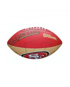 San Francisco 49ers Wilson Team Logo Junior žoga za ameriški nogomet