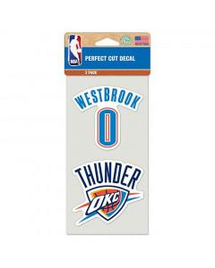 Oklahoma Cithy Thunder 2x Aufkleber Russel Westbrook