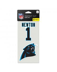 Carolina Panthers 2x Aufkleber Cam Newton