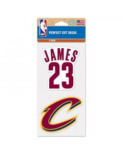 Cleveland Cavaliers 2x Aufkleber LeBron James