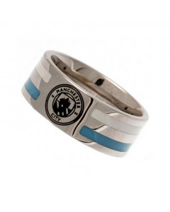 Manchester City Colour Stripe Ring aus Edelstahl