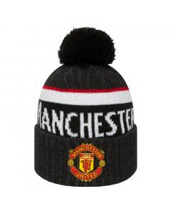 Manchester United New Era Black Bobble Cuff Knit zimska kapa
