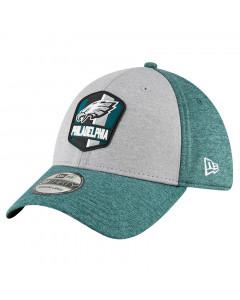 Philadelphia Eagles New Era 39THIRTY 2018 NFL Official Sideline Road Mütze
