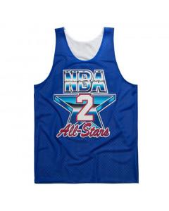 Larry Johnson 2 Charlotte Hornets All Star 1993 Mitchell & Ness Mesh Tank Top beidseitig tragbar
