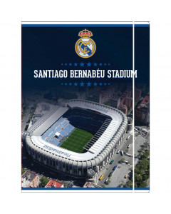 Real Madrid Santiago Bernabeu Mappe mit Elastikband