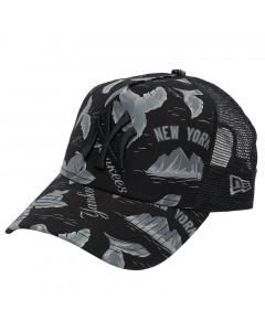 New York Yankees New Era A Frame Trucker Desert Island Mütze
