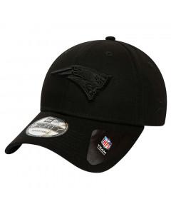 New England Patriots New Era 9FORTY Black on Black kapa