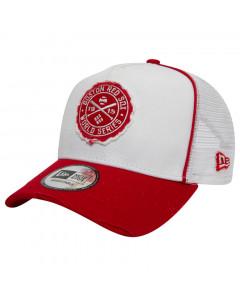 Boston Red Sox New Era A Frame Trucker World Series Patch  Mütze