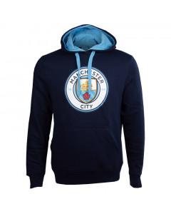 Manchester City Crest Kapuzenpullover Hoody