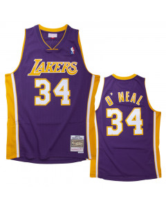 Shaquille O'Neal 34 Los Angeles Lakers 1999-00 Mitchell & Ness Road Swingman dres