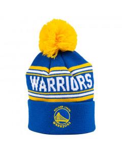 Golden State Warriors Cuff Pom Youth Kinder Wintermütze 58-62 cm