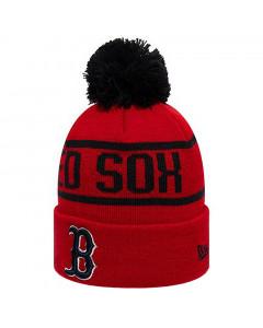 Boston Red Sox New Era Black BobbleWintermütze