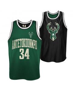 Giannis Antetokounmpo 34 Milwaukee Bucks Pure Shooter Tank obojestranski dres
