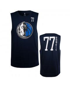 Luka Dončić 77 Dallas Mavericks Dunked Muscle Tank Top T-Shirt
