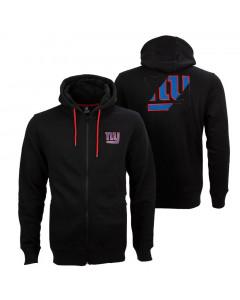 New York Giants Oversized Split Print Zip Thru zip majica sa kapuljačom